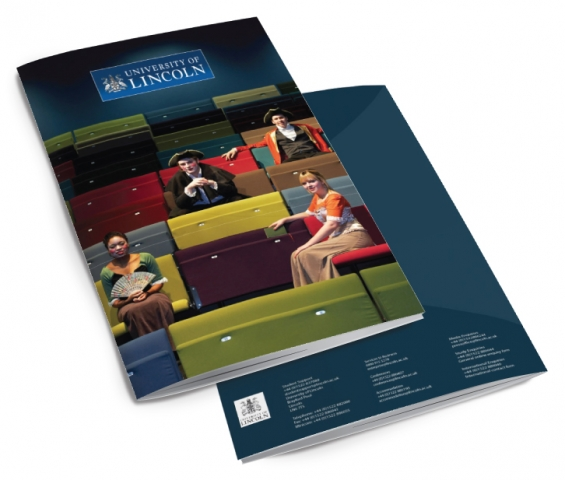 Front and back of a brochure for Lincoln University. Designed by am:pm graphics.