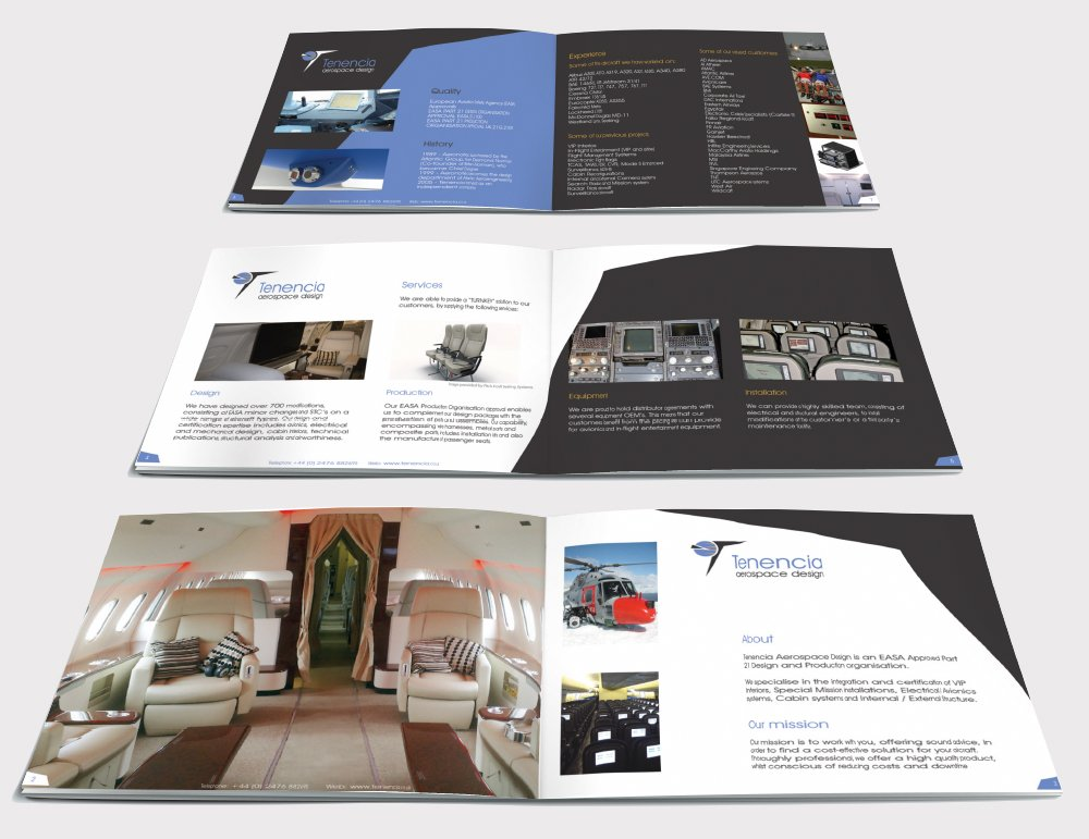 Three double page spreads of a brochure designed by am:pm graphics for the Tenencia.