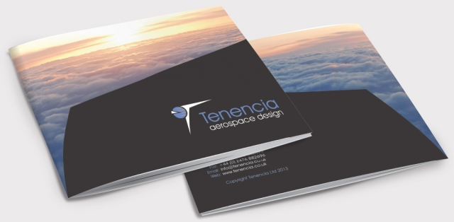 Front and back of a brochure for tenencia. Designed by am:pm graphics.