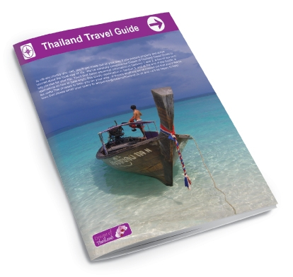 The front of a brochure designed by am:pm graphics for Dream of Thailand.