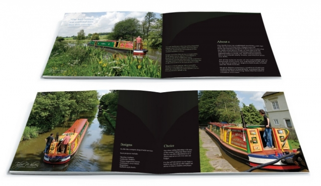 Two double page spreads from a brochure design for Tyler Wilson. Designed by am:pm graphics.