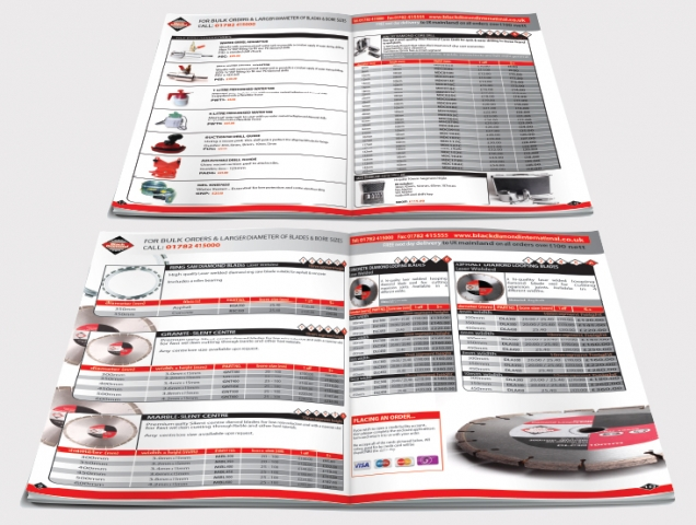 Two double page spreads from a catalogue design for Black Diamond. Designed by am:pm graphics.
