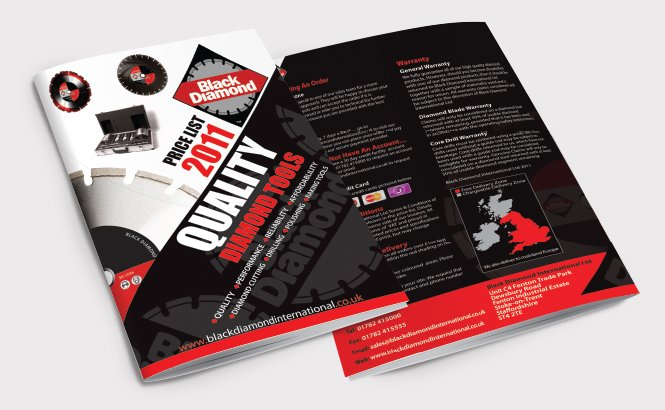 Front and back of a catalogue for Black Diamond. Designed by am:pm graphics.