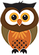 Pop up banner design owl