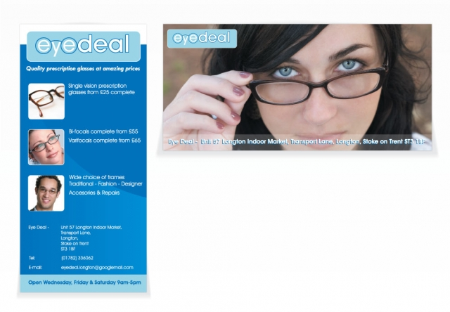 A double sided DL flyer design for Eye Deal