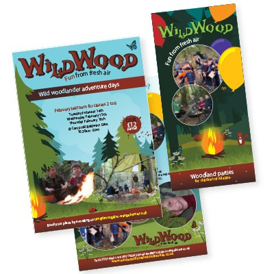 Two flyers designed for Wildwood. Created by am:pm graphics