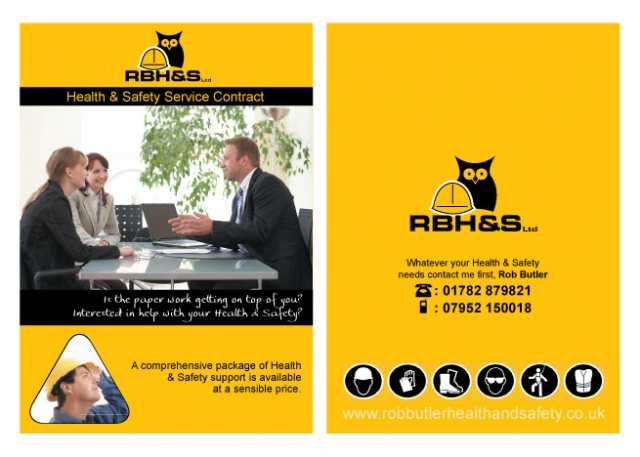 A double sided A5 flyer design for RBH and S ltd.