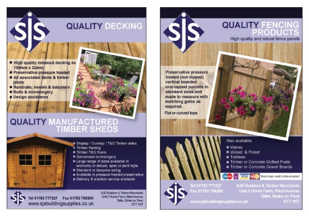 A double sided A5 flyer design for SJS.