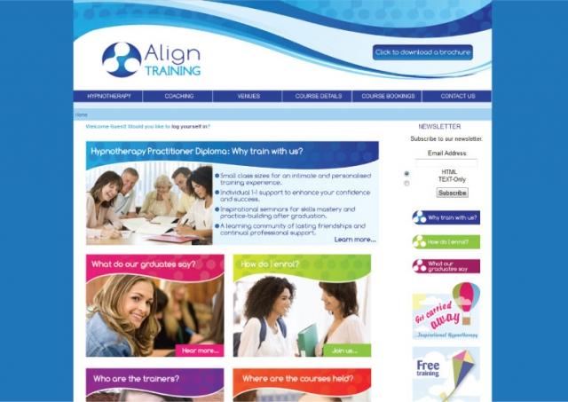 Website design for Align Training.
