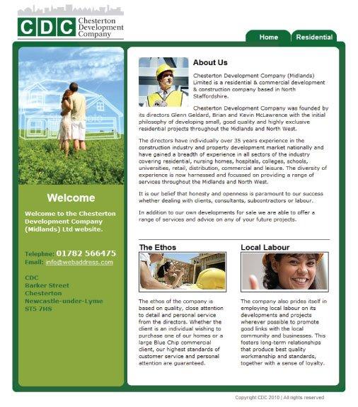 Website design for CDC.