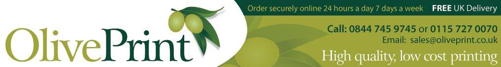 Banner design for Olive Print.