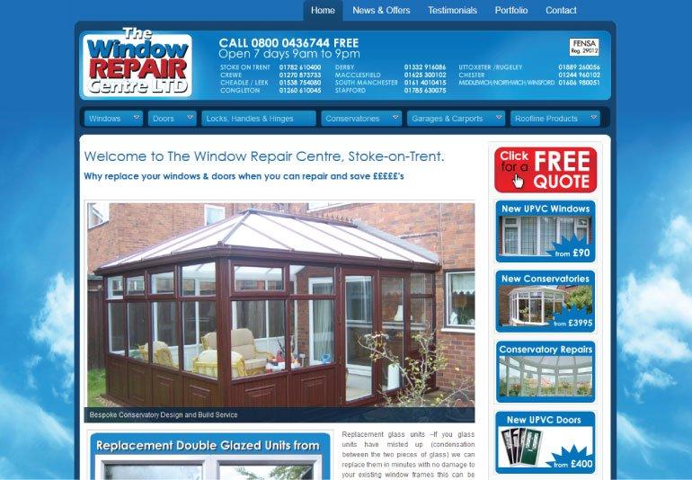 Website design for Window Repair Centre Ltd